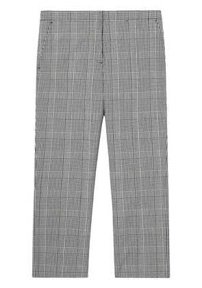 Burberry check technical tailored trousers - Grey