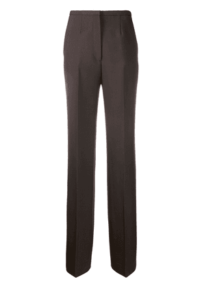Prada high-rise flared trousers - Brown
