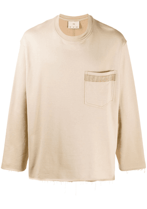 Song For The Mute chest pocket sweatshirt - NEUTRALS