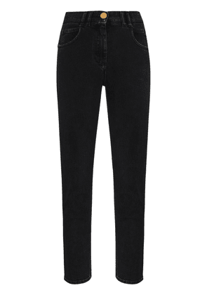 Balmain high-waist slim-leg jeans - Black