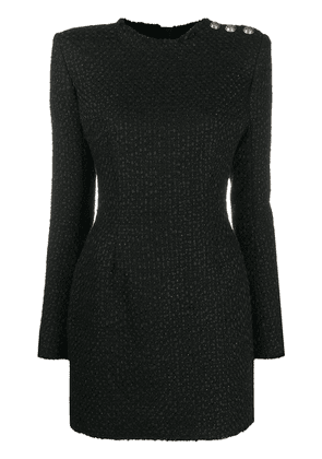 Balmain bouclé tweed mini dress - Black