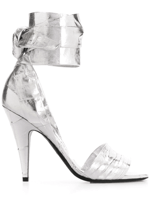 Tom Ford ankle strap high-heeled sandals - SILVER