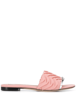 Marco De Vincenzo textured strap sandals - PINK