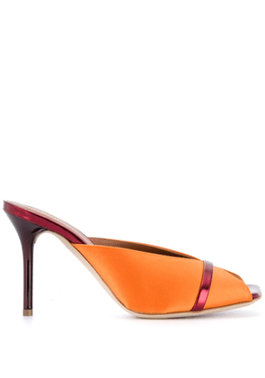 Malone Souliers Lucia 85mm mules - ORANGE