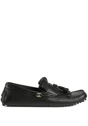 Gucci tassel-trim loafers - Black