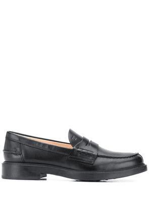 Tod's leather classic loafers - Black