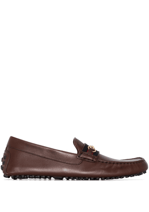 Gucci Driving Web-Stripe loafers - Brown