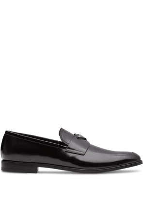 Prada logo-plaque loafers - Black