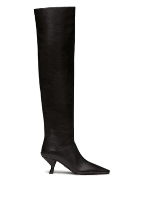 Prada over-the-knee 65mm pointed boots - F0002 BLACK