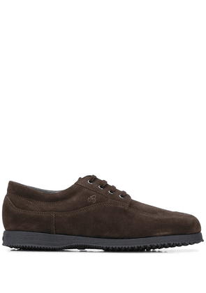 Hogan lace-up leather shoes - Brown