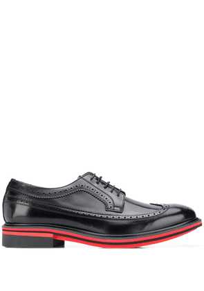 Paul Smith Chase contrast-trimmed leather brogues - Black
