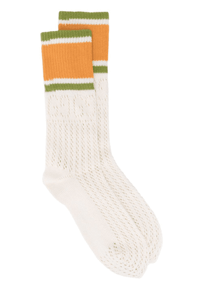 Gucci knitted panel detail socks - NEUTRALS