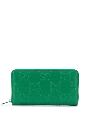 Gucci GG embossed zip purse - Green