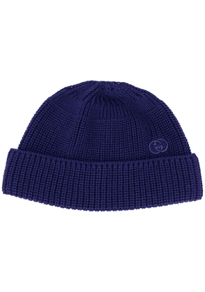 Gucci Interlocking G ribbed beanie - Blue