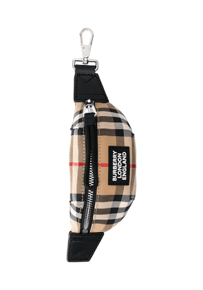 Burberry mini Sonny Vintage Check keyring - Neutrals