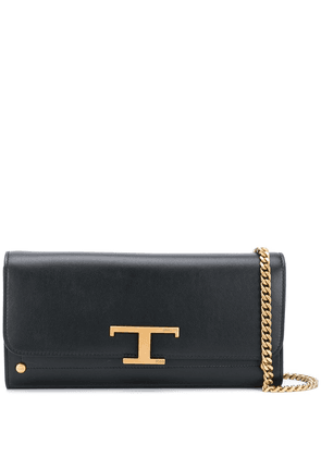 Tod's T-logo clutch bag - Black