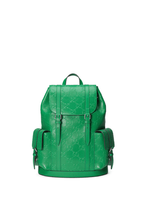 Gucci logo-embossed backpack - Green