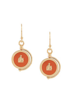 LANVIN Mother and Child pendant earrings - GOLD