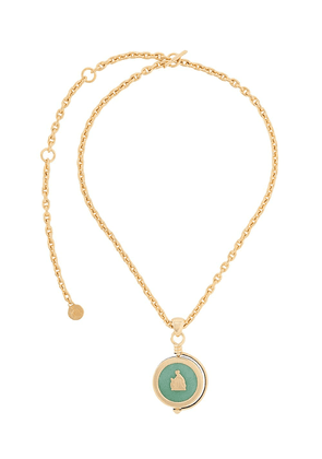 LANVIN Mother and Child rotary pendant necklace - GOLD