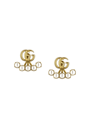 Gucci pearl double G earrings - 8078 Undefined