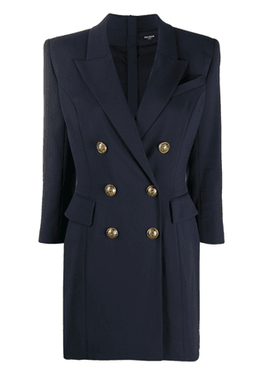 Balmain double-breasted blazer dress - Blue