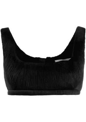 Marco De Vincenzo sleeveless crop top - Black