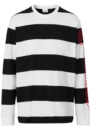 Burberry striped oversized top - Black
