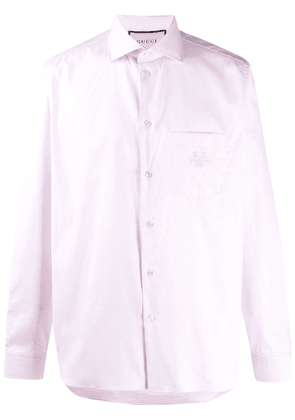 Gucci embroidered logo buttoned shirt - PINK