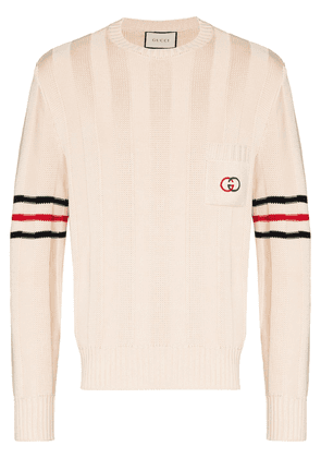 Gucci ribbed cotton jumper - NEUTRALS