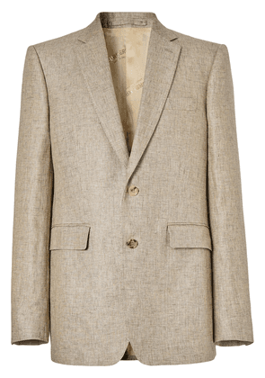 Burberry classic fit tailored blazer - Brown