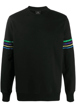 PS Paul Smith embroidered cotton sweatshirt - Black