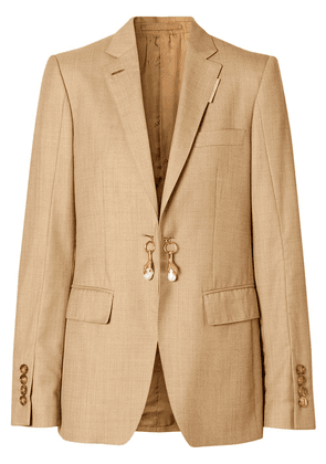 Burberry link-detail single-breasted blazer - Neutrals