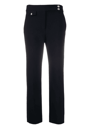 Veronica Beard Renzo embossed button detail trousers - Blue