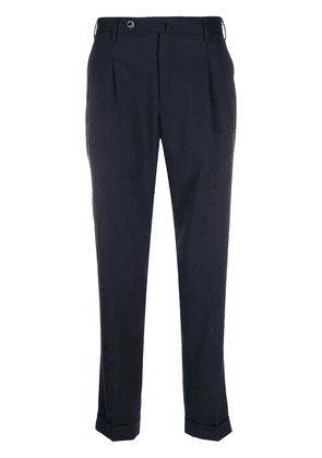 Pt01 pleated tapered trousers - Blue