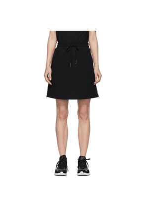 McQ Alexander McQueen Black Logo Tape Short Skirt