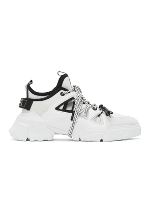 McQ Alexander McQueen White Orbyt Mid Low Top Sneakers