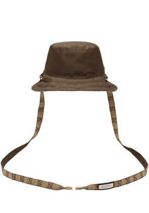 Gg Reversible Nylon Canvas Bucket