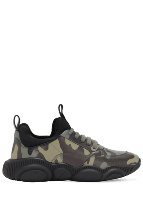Camouflage Sneakers W/ Teddy Sole