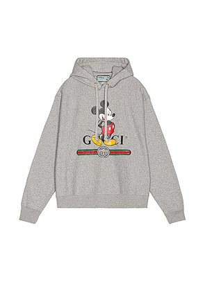 Gucci Micky Hoodie in Medium Grey & MC - Gray. Size L (also in M,S,XL).