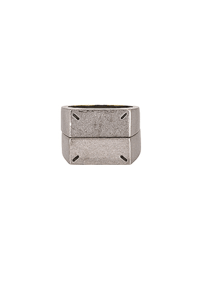 Maison Margiela Ring in Palladio Polished - Metallic Silver. Size L (also in M,S).