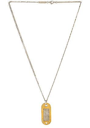 Maison Margiela Necklace in Yellow Gold Plated & Palladio Polished - Metallic Silver. Size all.