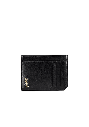 Saint Laurent ID Credit Card Case in Black - Black. Size all.