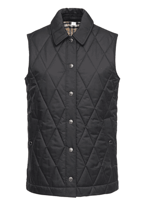 Quilted Vest W/check Lining