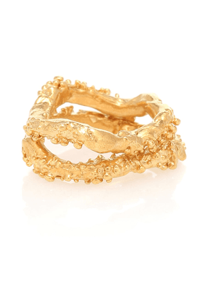 The Unreal City set of 2 24kt gold-plated sterling silver rings