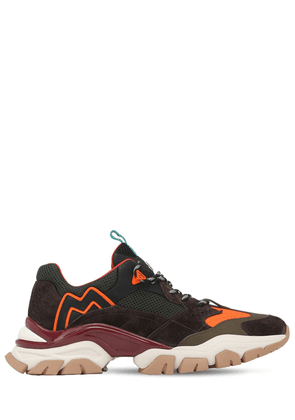 Leave No Trace Leather & Mesh Sneakers