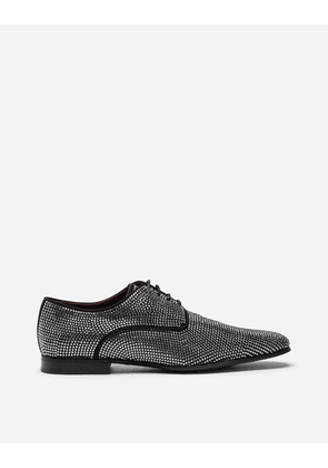 Dolce & Gabbana For him - DERBY IN SUEDE WITH ALL-OVER RHINESTONES BLACK