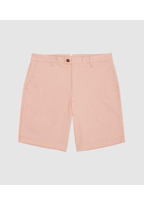 Reiss Wicket - Casual Chino Shorts in Dusky Pink, Mens, Size 28