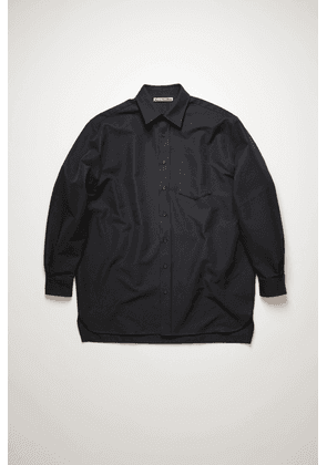 Acne Studios FN-MN-SHIR000292 Navy Cotton-blend twill shirt
