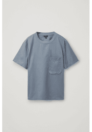 COTTON T-SHIRT WITH POCKET DETAIL
