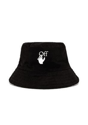 OFF-WHITE Reversible Bucket Hat in Black.